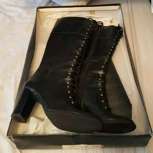 Vintage tall high heel boots size 8